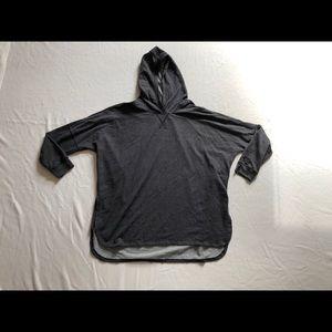 The north face sweater hoodie sz:M dark gray